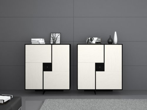miraseo myhhsc106w gene sideboard hochwertige anrichte wohnzimmerschrank aus mdf in farbe. Black Bedroom Furniture Sets. Home Design Ideas