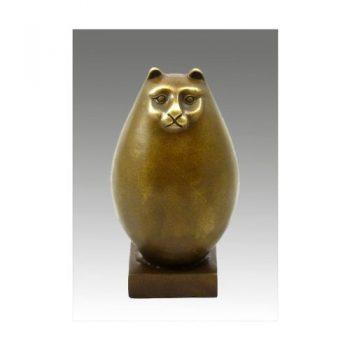 Moderne-Kunst-Dicke-Bronze-Katze-signiert-Fernando-Botero-0
