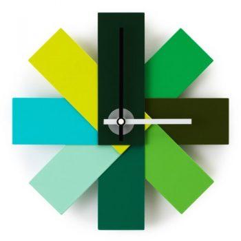 Normann-Copenhagen-Uhr-Watch-Me-Wall-Clock-grün-Rasmus-Gottliebsen-1949-Pulver-beschichtetes-Alluminum-hochwertiges-Quartz-Uhrwerk-0