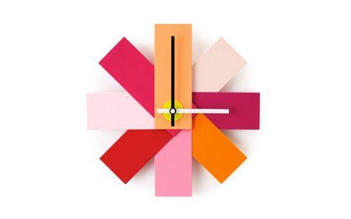 Normann-Copenhagen-Uhr-Watch-Me-Wall-Clock-pink-Rasmus-Gottliebsen-1949-Pulver-beschichtetes-Alluminum-hochwertiges-Quartz-Uhrwerk-0