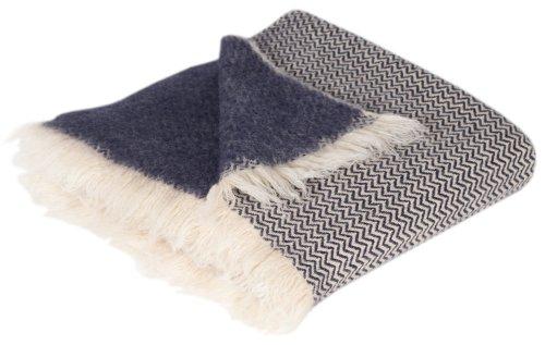 perelic handgefertigte wolldecke mit zick zack muster aus 100 reiner schurwolle ca 150 x 200cm. Black Bedroom Furniture Sets. Home Design Ideas