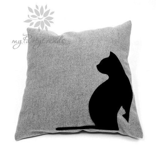 Sofakissen-Dekokissen-black-cats-40-x-40-cm-Katzenkissen-Katzenmotiv-inkl.-Füllkissen-Zierkissen-0