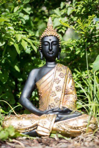 Thai buddha figur gold 40 cm statue buddha skulptur feng - Feng shui deko ...