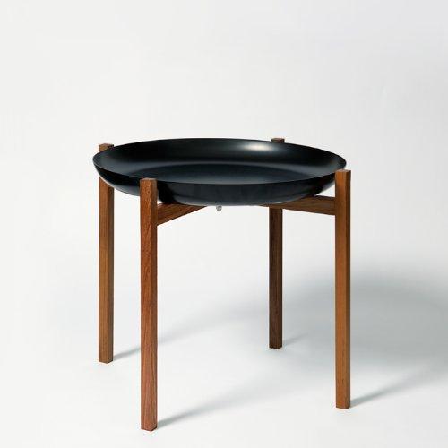 Tablo tray table beistelltisch schwarz teak natur high for Beistelltisch design schwarz