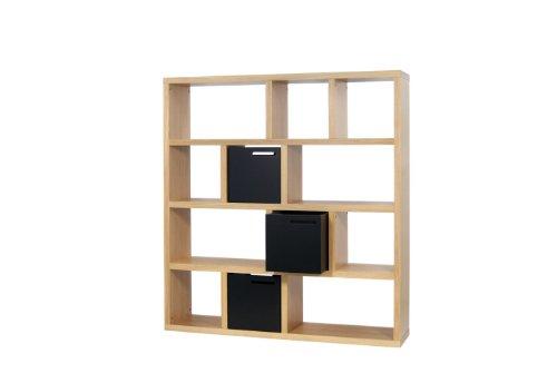temahome berlin regal mit 12 f cher in eiche echtholzfurnier online kaufen bei woonio. Black Bedroom Furniture Sets. Home Design Ideas