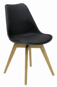 Tenzo-3317-854-Bess-Designer-Esszimmerstuhl-Kunststoffschale-mit-Sitzkissen-in-Lederoptik-Untergestell-Eiche-massiv-82-x-48-x-54-cm-schwarz-eiche-0