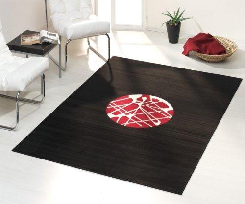velours teppich tommy schwarz rot gr e 160x230 online kaufen bei woonio. Black Bedroom Furniture Sets. Home Design Ideas