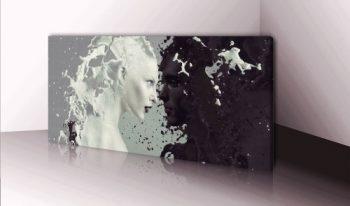 XXL-Wandbild-Leinwand-Nr.-255-Milk-and-Coffee-120x50cm-Wanddekoration-Keilrahmenbild-Kunstdruck-Abstrakt-Kunst-Kaffee-Wandbild-Panorama-Leinwandbild-0
