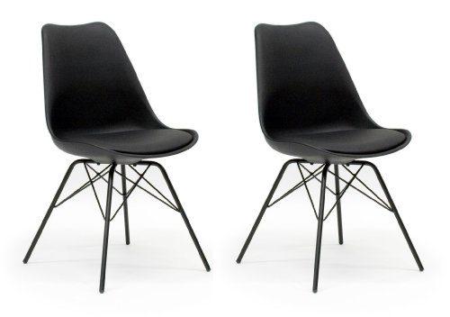 Esszimmerstühle designbotschaft messina stuhlset schwarz esszimmerstühle 2 stck