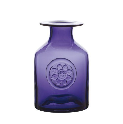 Dartington-Crystal-Mini-Blumenvase-mit-Anemonenmotiv-amethystfarben-0