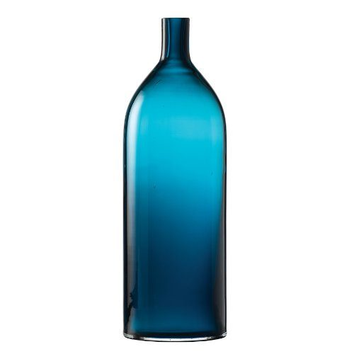 Enesco-Natural-Home-Glasvase-Glasflasche-groß-Azurblau-0
