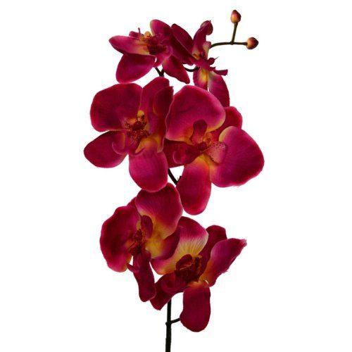 Kunstblume-Orchideenzweig-78cm.-Farbe-CERISE-0