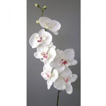 Kunstblume-Orchideenzweig-78cm.-Farbe-WEISS-40-0