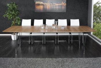 Moderner-Konferenztisch-CONTINENTAL-Eiche-Esstisch-270cm-Echtholz-verlängerbar-0