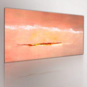 100-HANDGEMALT-GEMLDE-BILDER-LEINWAND--1-TEILIG--ABSTRAKT--Wandbilder-0101-7--100x40-cm--0