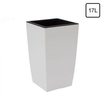 Terra Vase Rato aus Kunststoff mit Einsatz, Weiß, 60 cm online ...