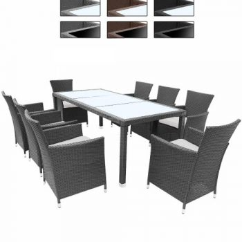 gartenm bel set tisch bank und 4 sessel rattan polyrattan geflecht paris 7 online kaufen bei. Black Bedroom Furniture Sets. Home Design Ideas