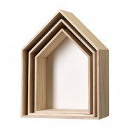 3er-Set-Wooden-House-Shaped-Aufbewahrungsboxen-Wei-0