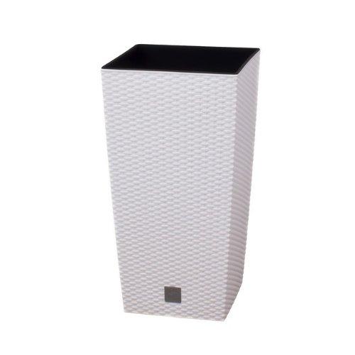 terra vase rato aus kunststoff mit einsatz wei 60 cm. Black Bedroom Furniture Sets. Home Design Ideas