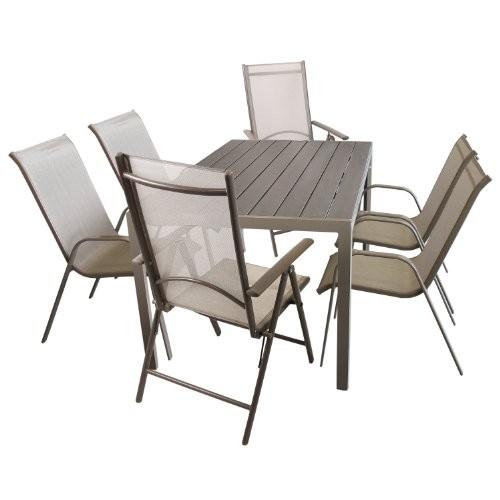 7tlg. Sitzgarnitur Gartengarnitur Set Aluminium Polywood / Non Wood ...