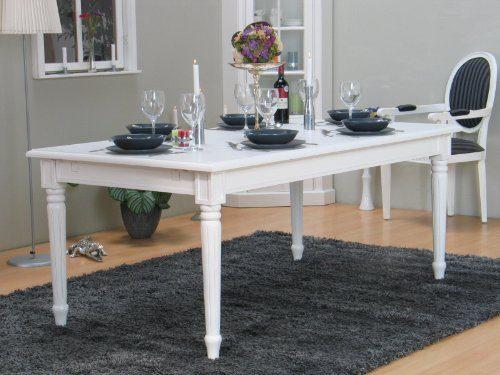 amaretta esstisch 100x180 230 inkl 1 zusatzplatte antik weiss online kaufen bei woonio. Black Bedroom Furniture Sets. Home Design Ideas