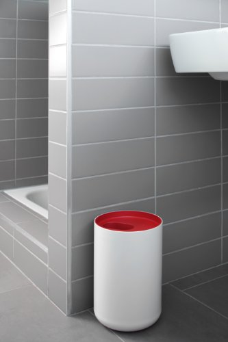 authentics lunar 1200622 red bathroom bin 6 litres online kaufen bei woonio. Black Bedroom Furniture Sets. Home Design Ideas