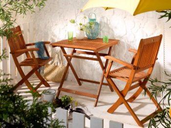 gartenm bel set aus akazienholz und aluminium 5 teilig online kaufen bei woonio. Black Bedroom Furniture Sets. Home Design Ideas