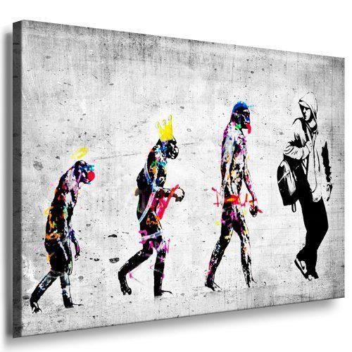 WANDBILD KUNSTDRUCK BANKSY GRAFFITI Panda Leinwand Bilder auf Keilrahmen xxl