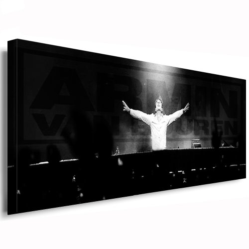 bild auf leinwand armin van buuren 120x40cm k poster bild fertig auf keilrahmen pop art. Black Bedroom Furniture Sets. Home Design Ideas