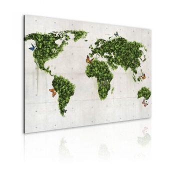 Bilder-XXL-Fertig-Aufgespannt-Top-Leinwand--1-Teilig--Weltkarte--Wand-Bilder--020113-53--90x60-cm--Riesen-Bilder-Kunstruck-Wand-Bilder--0