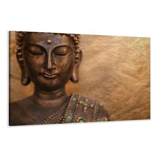 bilder auf leinwand buddha 120 x 80 cm modell nr xxl 5041 bild fertig gerahmt auf echtem. Black Bedroom Furniture Sets. Home Design Ideas
