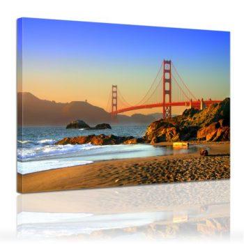 Bilderdepot24-Leinwandbild-Golden-Gate-San-Fransisco-80x60cm-fertig-gerahmt-direkt-vom-Hersteller-0