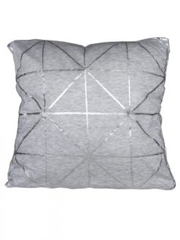 Bloomingville-Cushion-diagonal-foil-print-Kissen-grau-silber-one-size-0