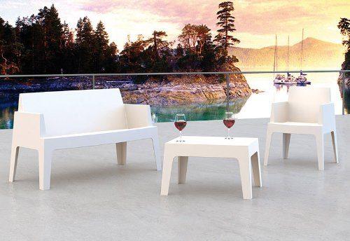 clp design outdoor sitzgruppe box 2er sofa 1 stuhl 1. Black Bedroom Furniture Sets. Home Design Ideas