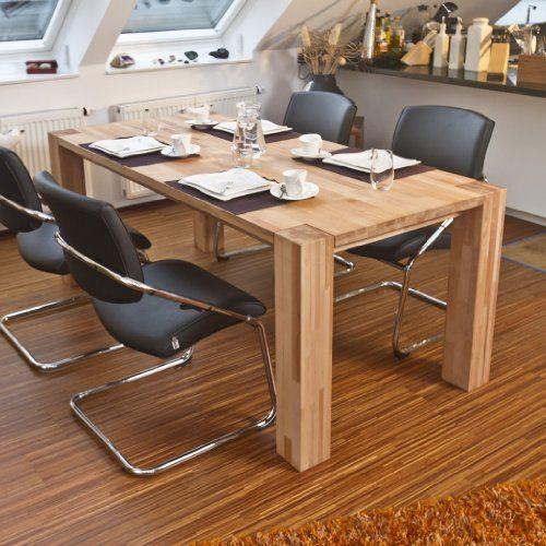 esstisch massivholztisch 160x90 cm aus massiver kernbuche online kaufen bei woonio. Black Bedroom Furniture Sets. Home Design Ideas