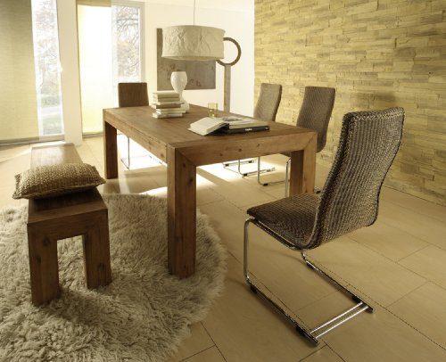 Esstisch Designer Tisch Esszimmertisch Massivholz Massiv 160 x 90 cm ...