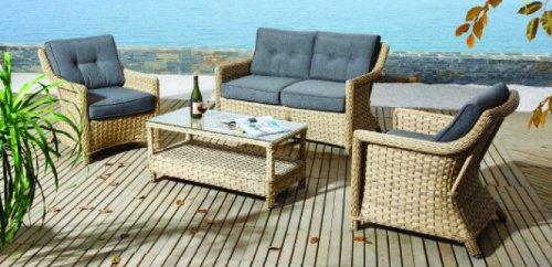 Terrassenmöbel rattan lounge  Gartenmöbel Gartenset Rattan Panama online kaufen bei WOONIO