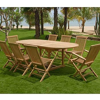 teak sitzgruppe garten garnitur tisch 200x100 und 6 sessel st hle rattan und recyceltes teak. Black Bedroom Furniture Sets. Home Design Ideas