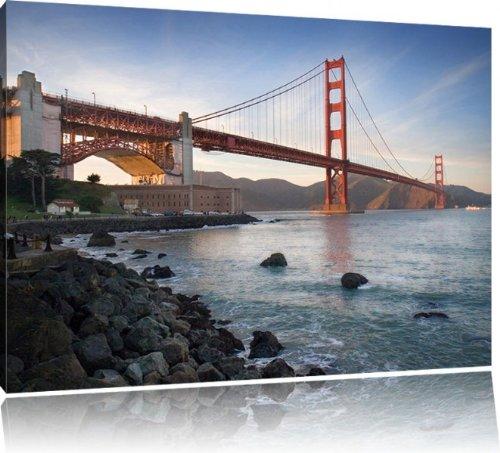 golden gate bridge san francisco usa bild auf leinwand. Black Bedroom Furniture Sets. Home Design Ideas