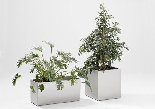 Jan kurtz 470806 edelstahl ubertopf mit rollen 55cm hoch for Garten planen mit pflanzkübel 50 x 50 cm