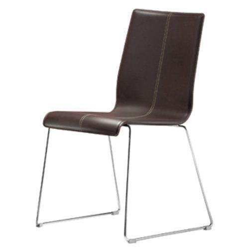 kuadra stapelstuhl leder braun online kaufen bei woonio. Black Bedroom Furniture Sets. Home Design Ideas