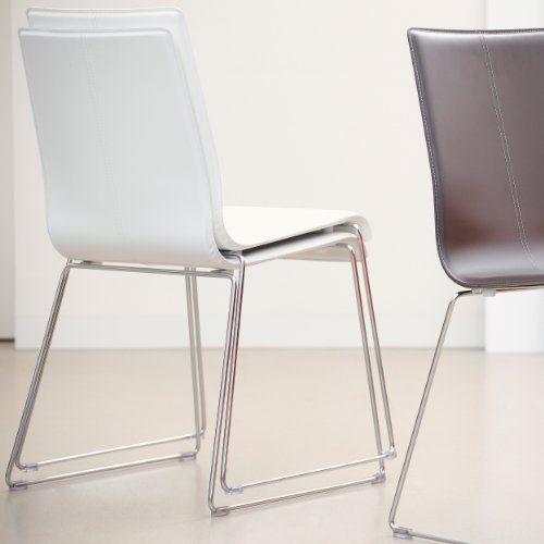 kuadra stuhl leder wei online kaufen bei woonio. Black Bedroom Furniture Sets. Home Design Ideas
