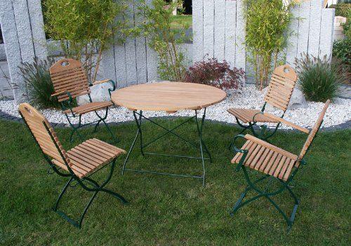kurgarten klappgarnitur bad t lz 5 teilig stahl gr n. Black Bedroom Furniture Sets. Home Design Ideas