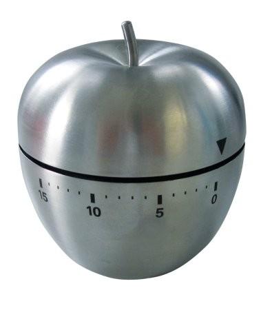 Kurzzeitmesser-Edelstahl-Form-Apfel-Kchenuhr-Eieruhr-0