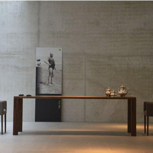 Leos tisch nussbaum 160 x 90 cm online kaufen bei woonio for Tisch nussbaum