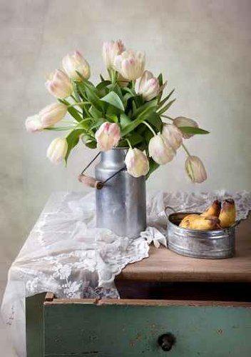 Luxus-Bild-Leinwandbild-Tulpen-6090-cm-Galeriequalitt-Einzelanfertigung-0