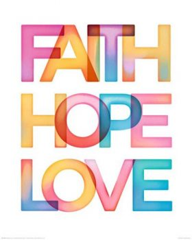 Motivational-Faith-Hope-Love-Motivations-Miniposter-Plakat-Druck-Grsse-40x50-cm-0