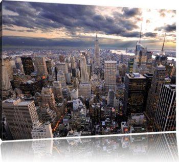 New-York-Skyline-Bild-auf-Leinwand-XXL-riesige-Bilder-fertig-gerahmt-mit-Keilrahmen-Kunstdruck-auf-Wandbild-mit-Rahmen-gnstiger-als-Gemlde-oder-lbild-kein-Poster-oder-Plakat-Format120x80-cm-0