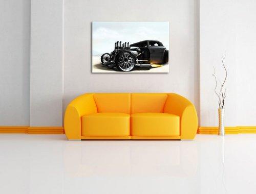 dark oldtimer bild auf leinwand xxl riesige bilder fertig gerahmt mit keilrahmen kunstdruck. Black Bedroom Furniture Sets. Home Design Ideas