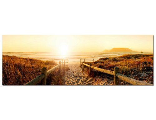 panorama bild 150x50cm strand steg meer nordseestrand wandbilder bilder exklusives. Black Bedroom Furniture Sets. Home Design Ideas